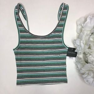NWT TopShop Striped Crop Tank Size US 4